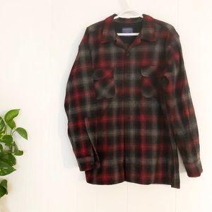 Pendleton   Board Shirt Jac Red Plaid Flannel